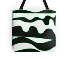 Black, white and green Tote Bag
