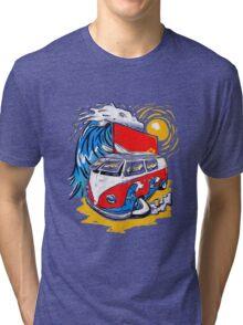 Surfs Up. Tri-blend T-Shirt