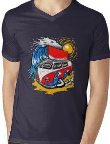 Surfs Up. Mens V-Neck T-Shirt
