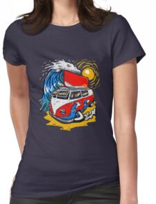Surfs Up. Womens Fitted T-Shirt