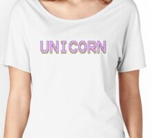 UNICORN PIXEL ART IN PASTEL COLORS | KAWAII TRENDY MINIMAL QUOTE Women's Relaxed Fit T-Shirt