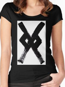 Anglo-Saxon Futhorc Gar g Spear Women's Fitted Scoop T-Shirt