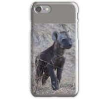 Young hyena cub iPhone Case/Skin