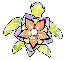 Watercolor Turtle Photographic Print
