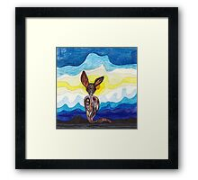 lonely cat Framed Print