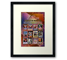 The Art of the Trading Card (by Walter Day) Framed Print
