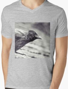 Crow In The Rain Mens V-Neck T-Shirt