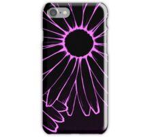 pink neon daisies iPhone Case/Skin