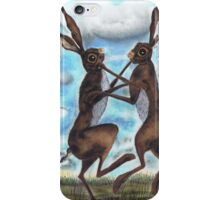 BOXING HARES  iPhone Case/Skin