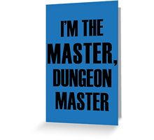Dungeon Master Greeting Card