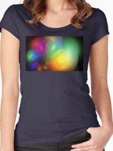 Helium Rainbow Women's Fitted Scoop T-Shirt