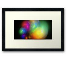 Helium Rainbow Framed Print