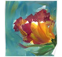 Abstract Floral Poster