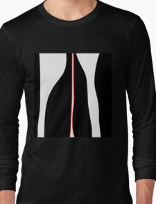 White, black and red Long Sleeve T-Shirt