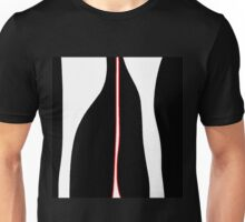 White, black and red Unisex T-Shirt
