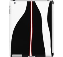 White, black and red iPad Case/Skin
