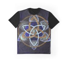 Golden Triskelion Mandala Graphic T-Shirt