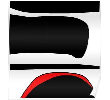 Red, white and black  Poster