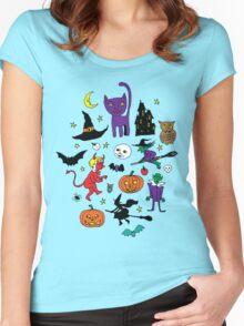 Retro Halloween Women's Fitted Scoop T-Shirt