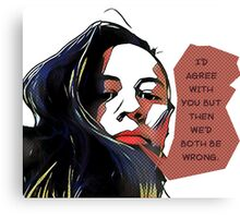 Popart sarcastic quote Canvas Print
