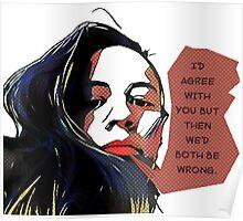 Popart sarcastic quote Poster