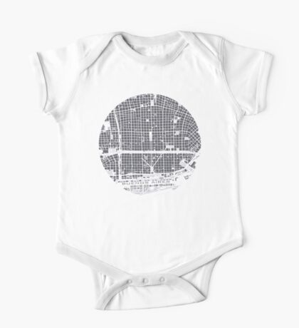 Buenos Aires city map engraving One Piece - Short Sleeve
