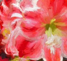 Christmas Lilies/Red Amaryllis Sticker