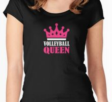 Volleyball Shirts: Volleyball Queen T Shirt Women's Fitted Scoop T-Shirt