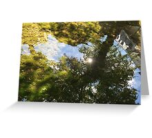 green light reflections Greeting Card