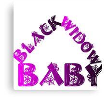 BLACK WIDOW BABY Canvas Print