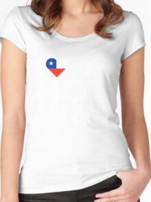 I Love My Hot Chilean Boyfriend Women's Fitted Scoop T-Shirt