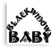 BLACK WIDOW BABY 2 Canvas Print
