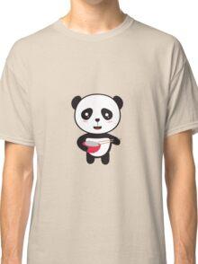 Cute Panda with rice bowl Classic T-Shirt