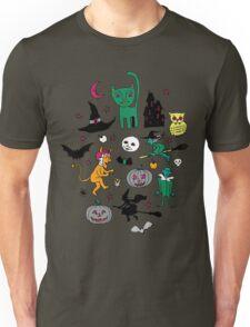 Retro Halloween - on grey Unisex T-Shirt