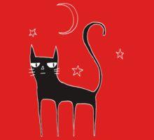 A Black Cat One Piece - Short Sleeve