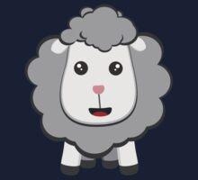Big eyed kawaii sheep Kids Tee