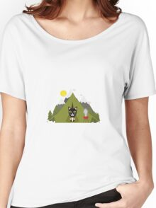 Cat In the camping tent   Women's Relaxed Fit T-Shirt