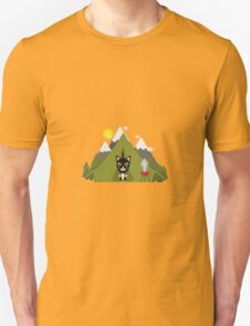 Cat In the camping tent   Unisex T-Shirt