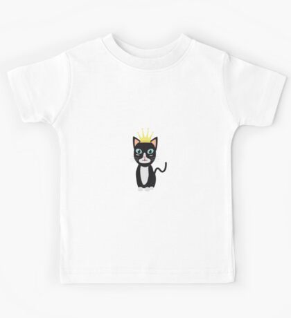 Cat with Crown   Kids Tee