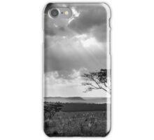 sunset with silhouette of a tree iPhone Case/Skin
