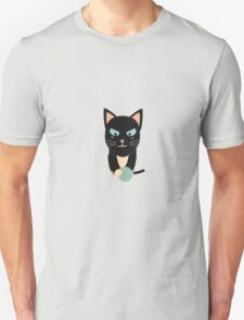 Cat with Ball of Wool Unisex T-Shirt