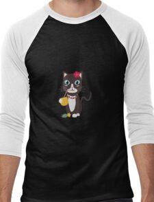 Hawaii cat with pineapple   Men's Baseball ¾ T-Shirt