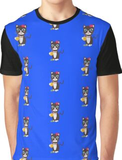 Hawaii cat with pineapple   Graphic T-Shirt