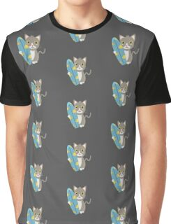 Cat with surfboard   Graphic T-Shirt