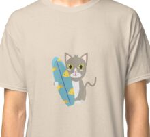 Cat with surfboard   Classic T-Shirt