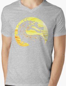 Mortal Kombat Dragon Mens V-Neck T-Shirt