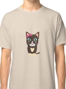 Cute cat with bow   Classic T-Shirt