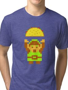Link and a taco Tri-blend T-Shirt