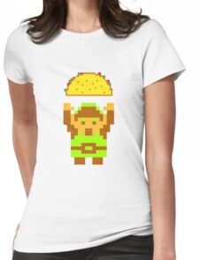 Link and a taco Womens Fitted T-Shirt