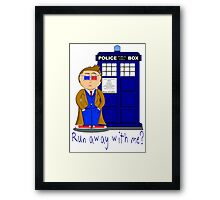 Run Away With Me? Doctor Who Framed Print